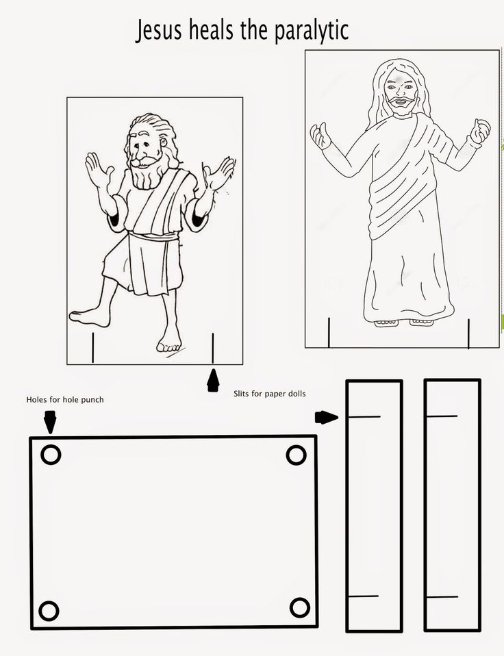 Jesus Healed A Crippled Woman Coloring Pages Jesus Heals Bible