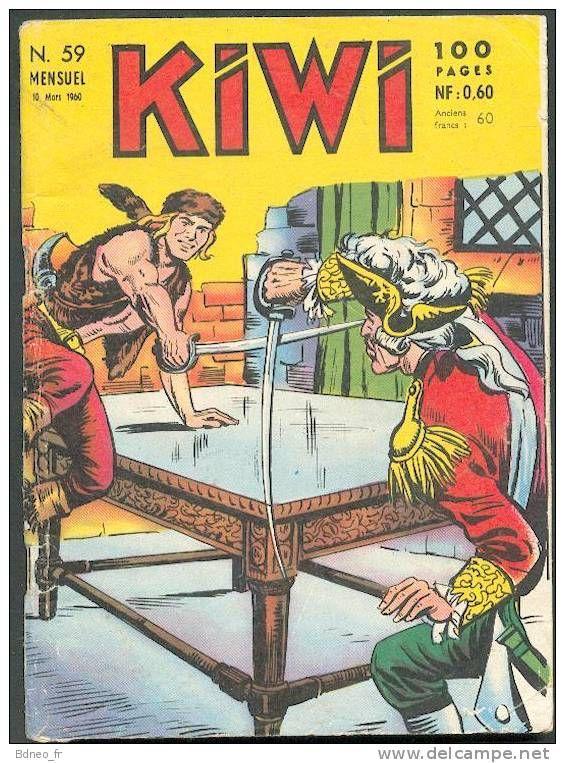 KIWI 59 : Blek Le Rock , le Petit Trappeur + Kiwi + Le Petit Duc ... - LUG Mars 1960 -