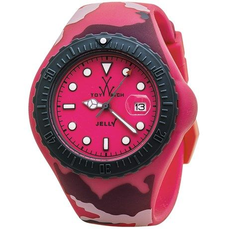 ToyWatch Camouflage Watch - Jelly Silicone, 44mm (For Men and Women))