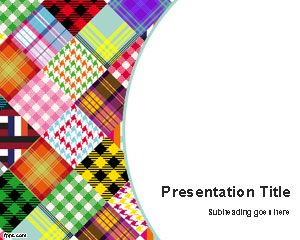 Colored fabrics PowerPoint Template is a free color textile template for Microsoft PowerPoint with a nice background design and white color in the background