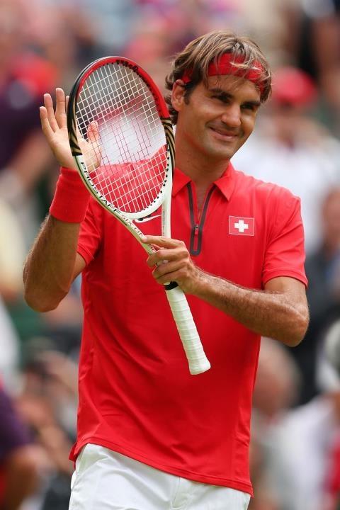 Red Hot: Roger Federer,1st round 2012 Olympics London.
