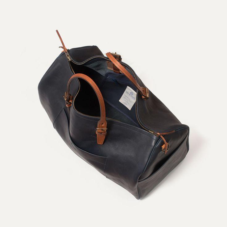 Leather travel bag for Men - Made in France   Bleu de chauffe