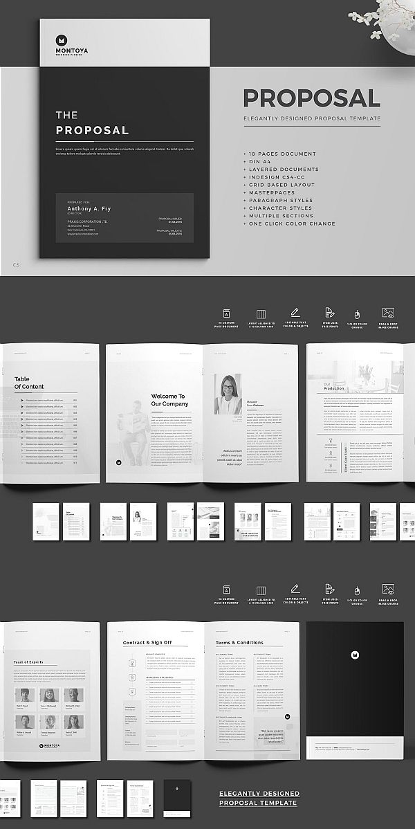 proposal brochure pinterest brochure template proposal