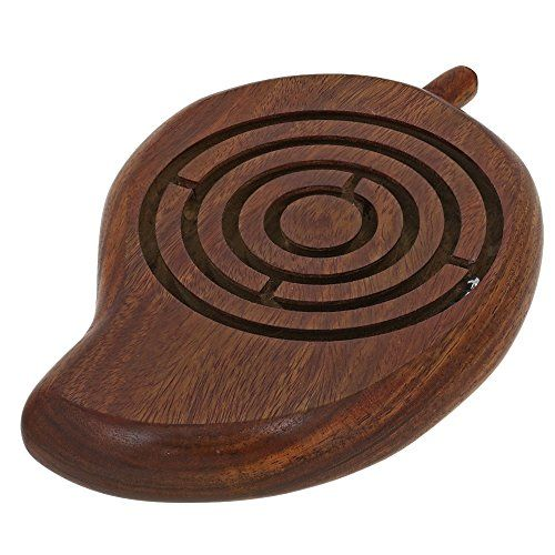 Handcrafted Mango Wooden Ball in Maze Puzzle Unique Gifts for Kids Travel Games for Children ShalinIndia http://www.amazon.in/dp/B00QBXRY5O/ref=cm_sw_r_pi_dp_fV.Avb1ZKH7XJ