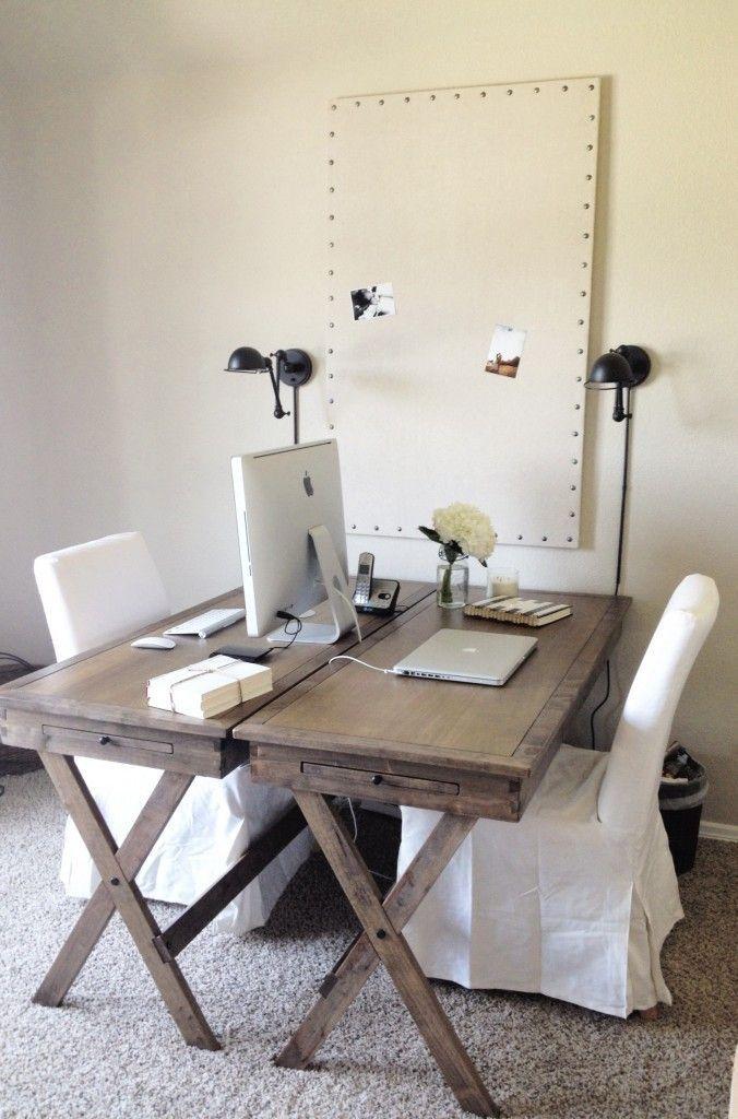 Creative Design Desk Double Home Ideas Office Pictures