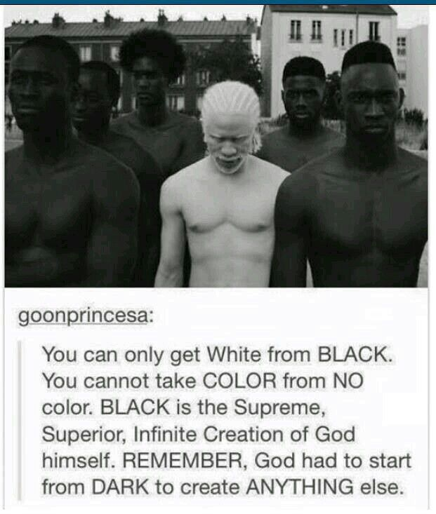 Bible saids man is made from the earth. What color does earth have?? BLACK n Brown. Adam and Eve were BLACK.