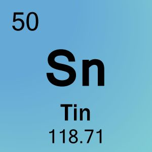 Tin is a chemical element with the symbol Sn (for Latin: stannum) and atomic number 50