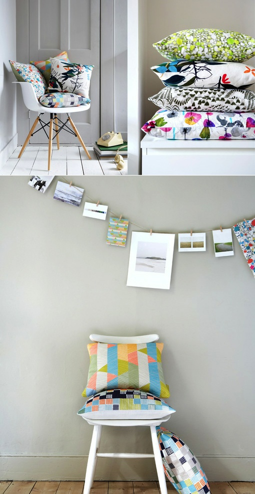 Pretty Patterns & Pillows from Imogen Heath | from Poppytalk