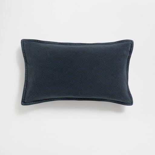 Ürün görseli Siyah yıkanmış pamuklu yastık kılıfı