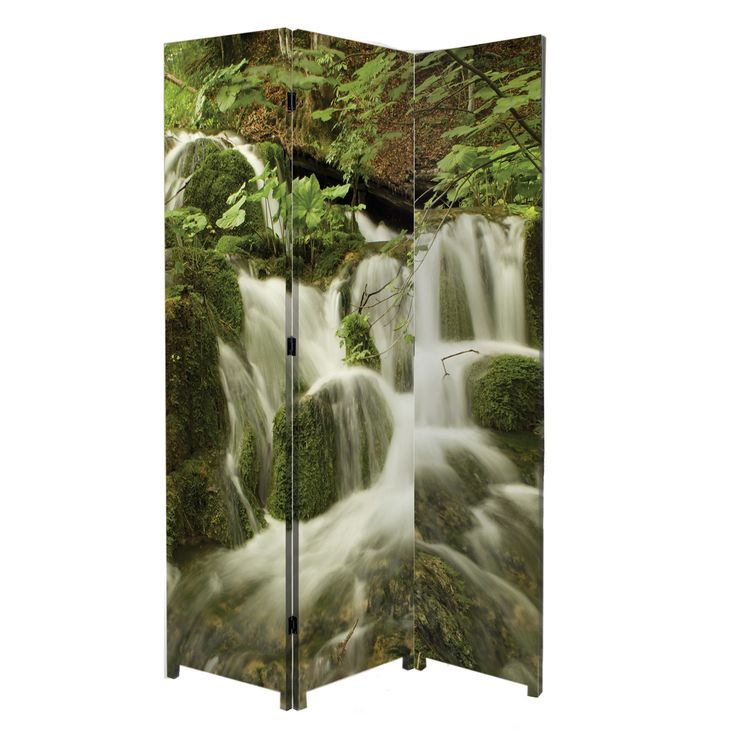 """71"""" x 47.5"""" Bota Stretched Canvas 3 Panel Floor Screen Room Divider"""