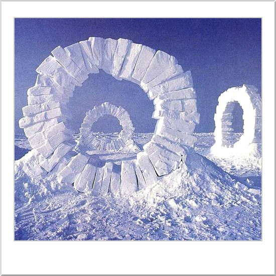 Andy Goldsworthy Ice Sculpture