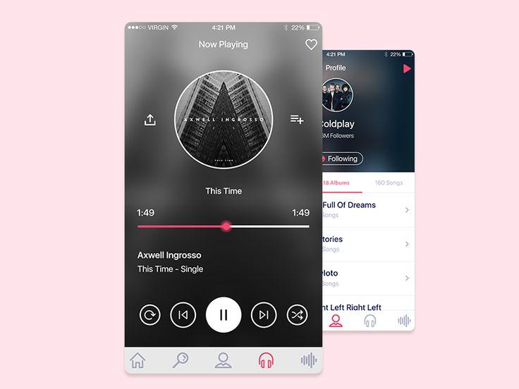 Muzat IOS Music Application  by israa ali