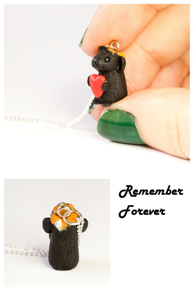 Custom minis are the perfect memorial of your pet and at just 1.5cm tall they can stand on the tip of your finger!  They're also brilliant because they are light weight enough to wear anywhere, with anything.  Every piece is sent to you in its very own gift box, making present giving a piece of cake.