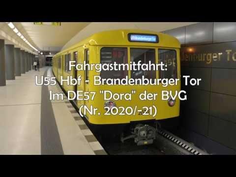 """[Fahrgastmitfahrt] U55: Hbf-Brandenburger Tor in der DE57 """"Dora"""" der BVG - YouTube"""