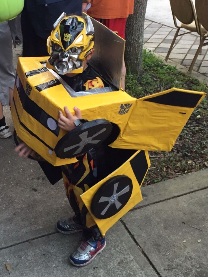 Bumblebee transformer Halloween costume 2015