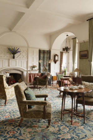 The Drawing room @ Standen, Philip Webb, Architect, William Morris, Standen House, Sussex, England