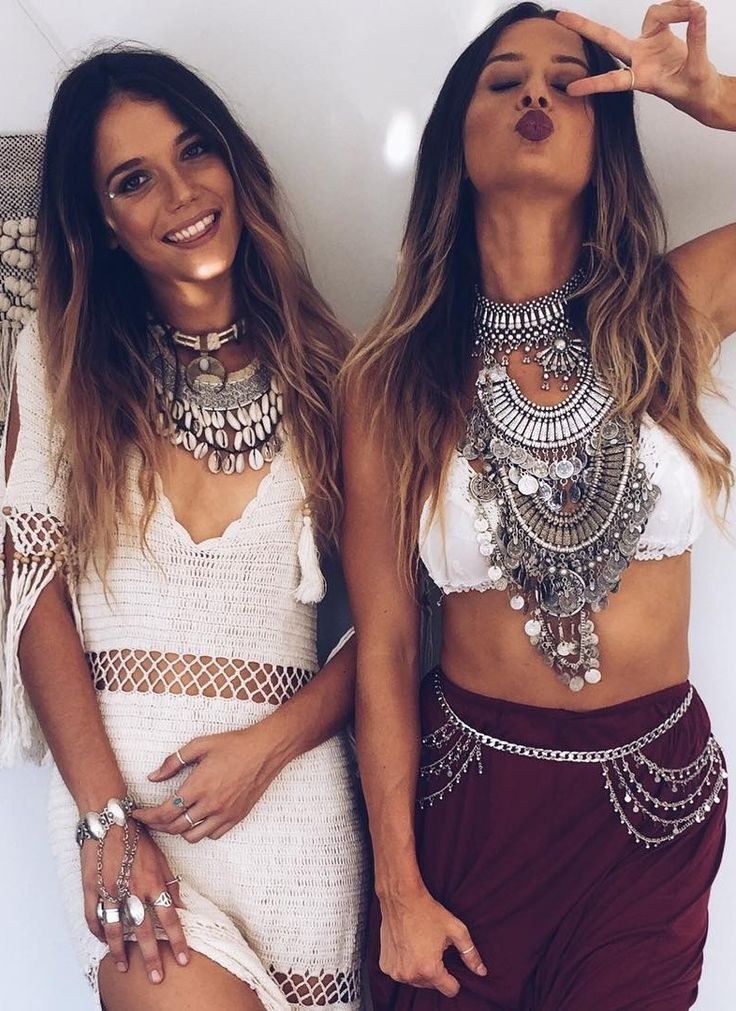 @BlackCoral4you ❤️☮❤️. how to wear boho jewelry