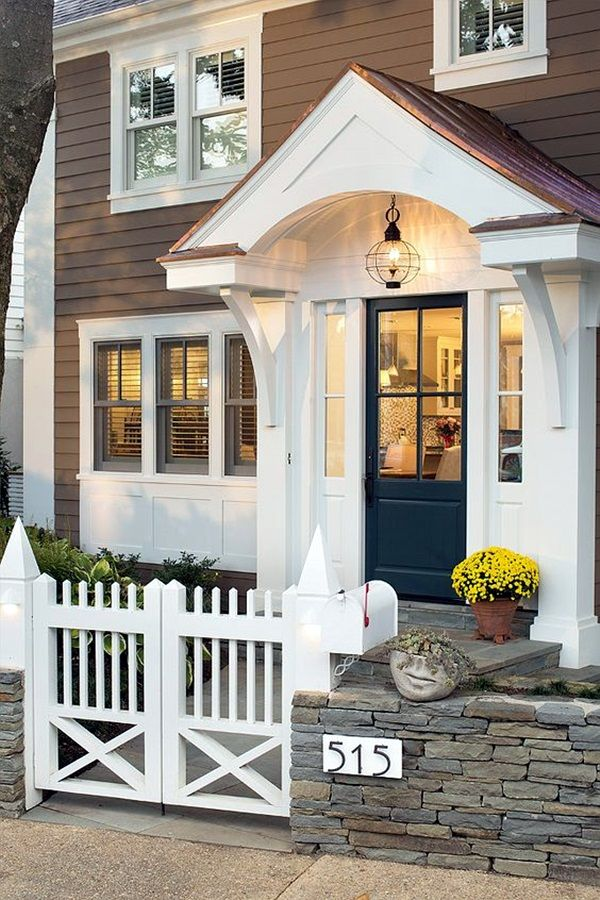 40 Lovely Door Overhang Designs Front Yard Front Entry