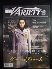 Daily Variety Magazine 2001 jun ANNE FRANK:FOR YOUR CONSIDERATION/ALL CATEGORIESBRAINBOXCCBRAINBOXBRAINBOX