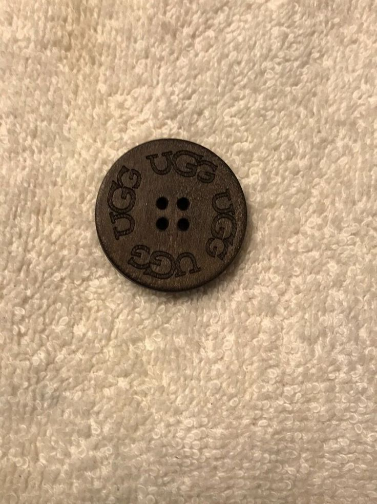 AUTHENTIC UGG REPLACEMENT BUTTON BLACK BROWN WOOD WOODEN