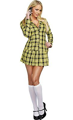 Adult Fancy Yellow Plaid School Girl Costume. Iggys outfit. I know it's clueless don't remind me.