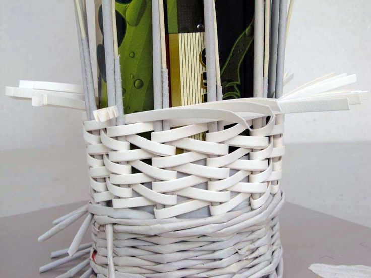 papírové pásky názorně | Pletení z papíru