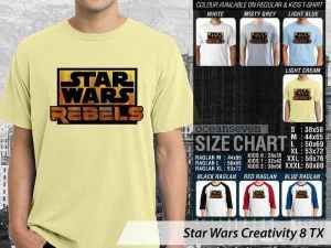 Kaos Star Wars Logo Classic, Kaos Star Wars Film Logo, Kaos Star Wars Force Awakens, Kaos Star Wars Episode Classic, Kaos Star Wars Couple Anak-anak