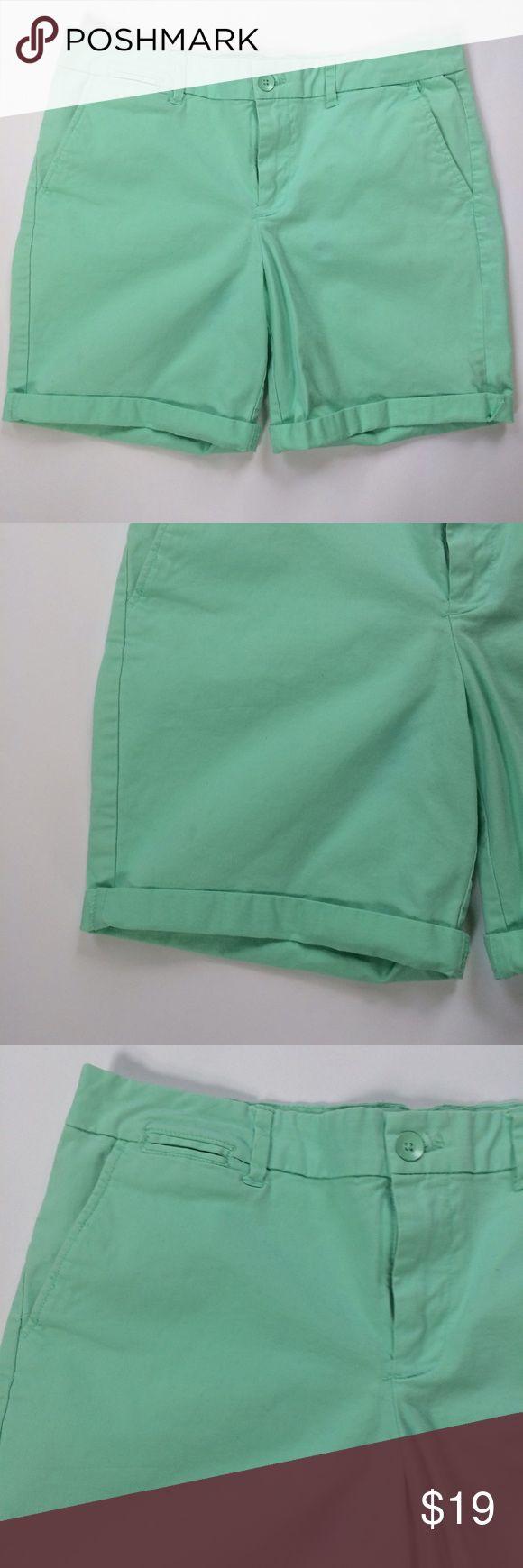 GAP mint green Boyfriend roll up khaki Shorts Cotton roll up Boyfriend shorts. Gently worn. Zipper and button closure. GAP Shorts