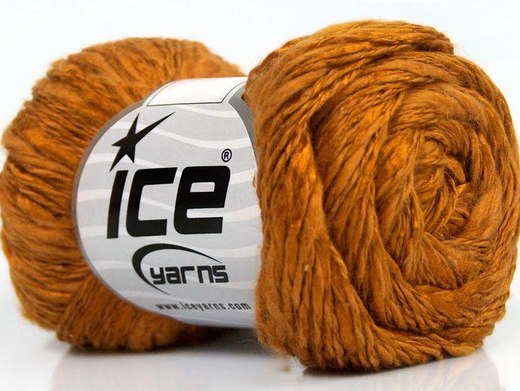 Limited Edition Spring-Summer Yarns Viskon Yazlık  Pamuk Flamme Natural Yarn Fine Weight Caramel  İçerik 60% Pamuk 40% Viskon Brand ICE Caramel fnt2-41422