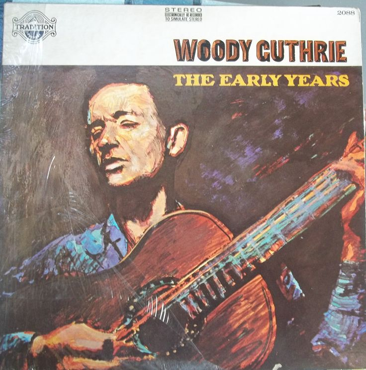 Woody Guthrie, The Early Years, Vintage Record Album, Vinyl LP, American Folk Music, Singer Songwriter, Guitar Legend, Political Songs by VintageCoolRecords on Etsy