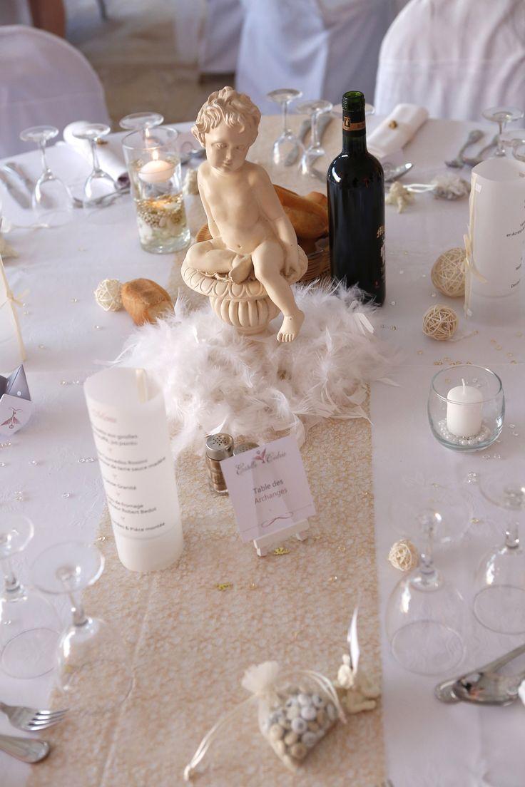 Deco de table thème anges