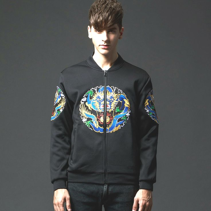 Baseball Bomber Jackets Men Coats Casual Original Design Black Chinese Totem Dragon Embroidered Slim Collar Luxury Mens Clothing     Tag a friend who would love this!     FREE Shipping Worldwide     Buy one here---> http://onlineshopping.fashiongarments.biz/products/baseball-bomber-jackets-men-coats-casual-original-design-black-chinese-totem-dragon-embroidered-slim-collar-luxury-mens-clothing/