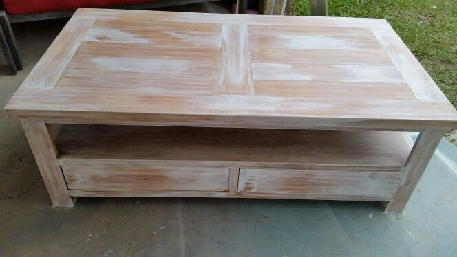 Beachy White Washed Coffee Table Buffet Pinterest Coffee Coffee Tables And Tables