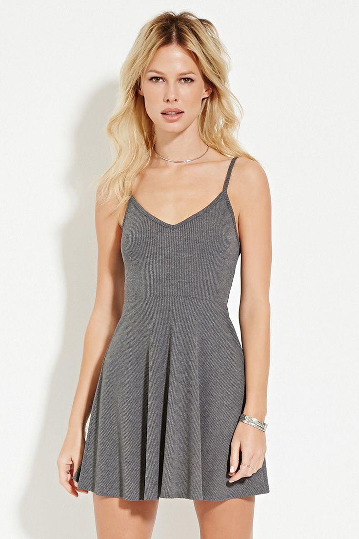 Ribbed Skater Dress - Dresses - 2000185926 - Forever 21 EU English