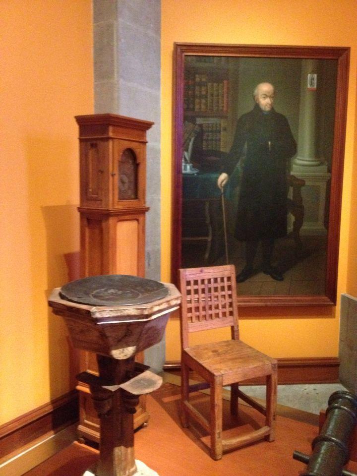 Objetos del Padre de la patria, El Cura Miguel Hidalgo, en el Castillo dw Chapultepec de la Ciudad de México.