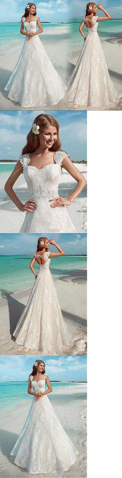Wedding Dresses: White Ivory Backless Bridal Gown Wedding Dress Custom Size 4-6-8-10-12-14-16-18+ -> BUY IT NOW ONLY: $142.6 on eBay!