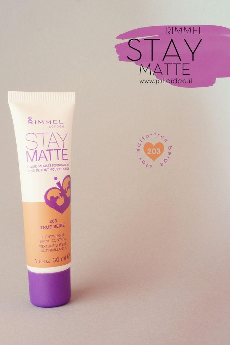 Review Stay Matte Rimmel London - Nuovo Fondotinta in Mousse effetto Matte #rimmel #makeup