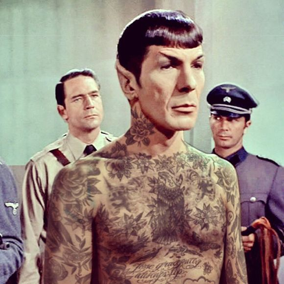 Mister Spock  with added tattoos, Cheyenne Randall, c2013/14