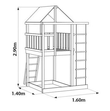 DIY playcentre, outdoor play, play fort, kids, garden, swings, slides, wendy houses