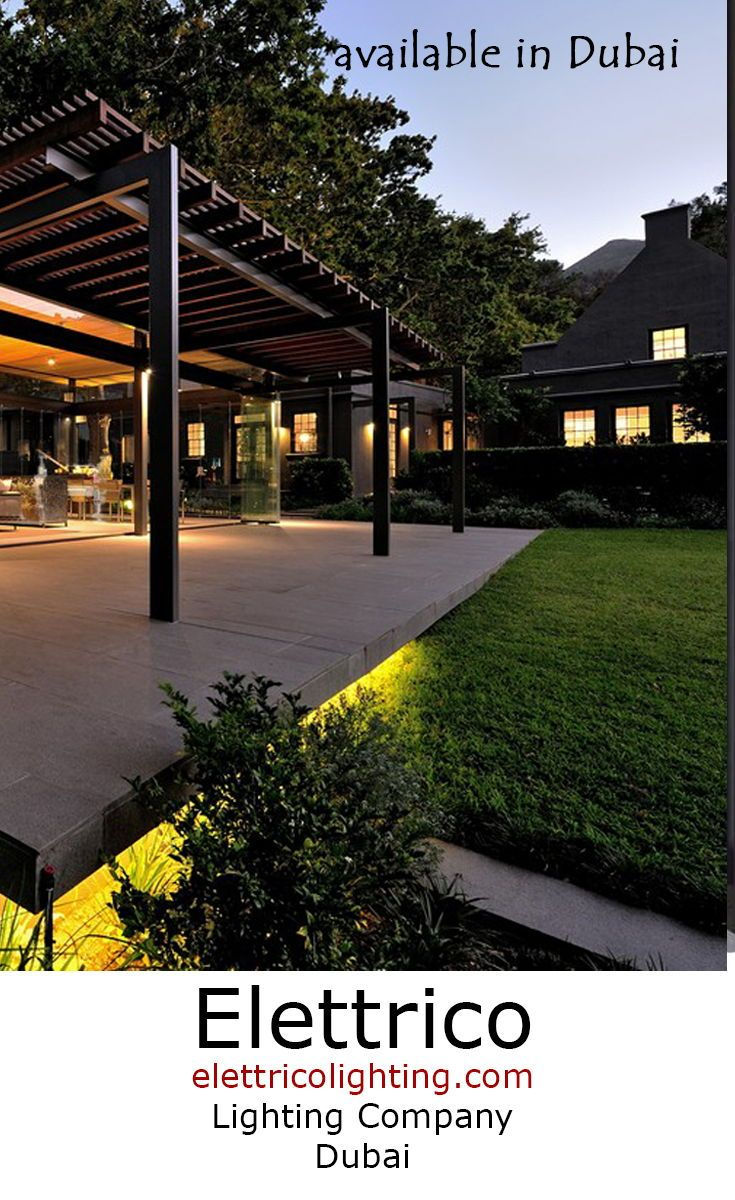 Modern Architecture Begs For Stylish Landscape Lighting Modern