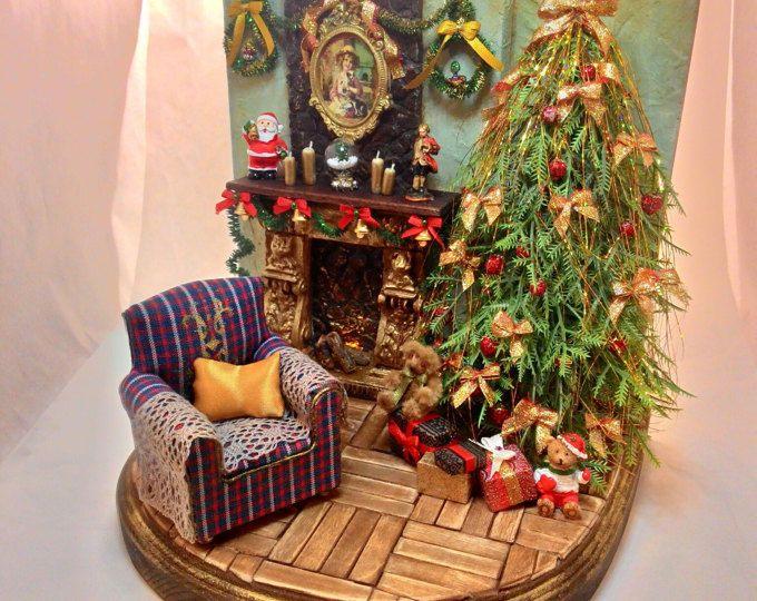 Diorama 1:12 Christmas roombox OOAK miniatures