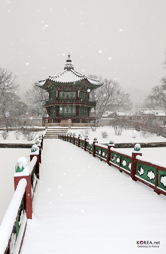 Photo Sketch of Heavy Snowfall in Seoul (Gyeongbokgung Palace, December 5, 2012)