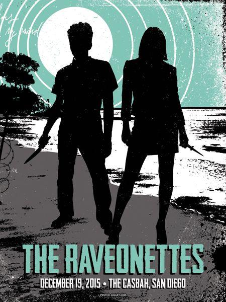 The Raveonettes #gigposter by Greg Gordon.