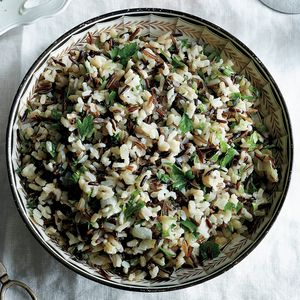 "Supersavory Wild Rice Pilaf | MyRecipes.com From the Kitchen of Ann Taylor Pittman, Executive Food Editor ""This pilaf was always on the Taylor Thanksgiving table. I would joke that it was my Korean mom's way of sneaking some form of rice into the meal."""