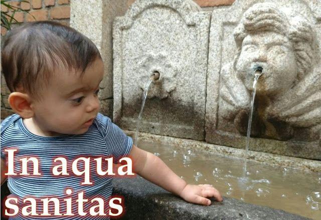 In aqua sanitas Na água, a saúde : In water there is Health