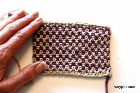 Linen stitch tutorial.