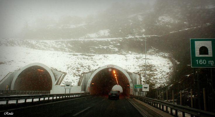 foggy tunnel..