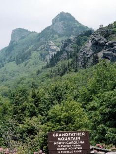 Caves Caverns in Boone, North Carolina and Grandfather Mountain. Loved climbing this mountain.
