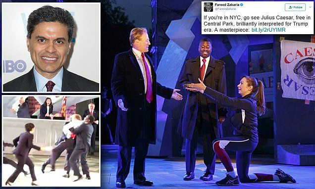 Time Warner under fire for backing 'Trump-killing' play | Daily Mail Online