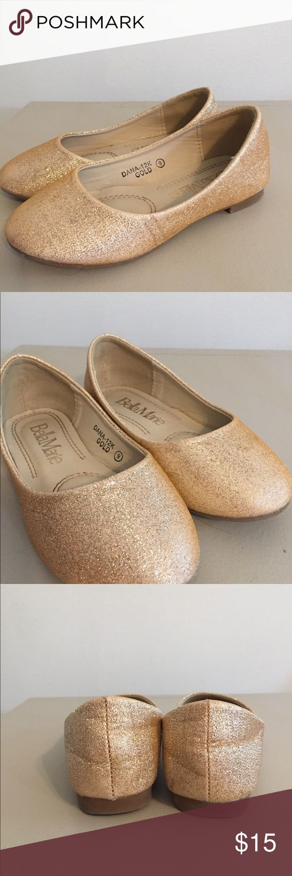 Girls glitter shoes Worn 1 time as a flower girl Shoes Dress Shoes